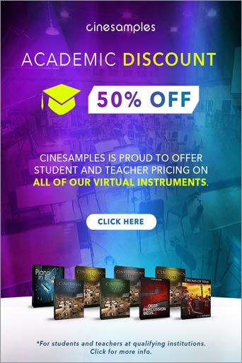 Cinesamples Academic discount
