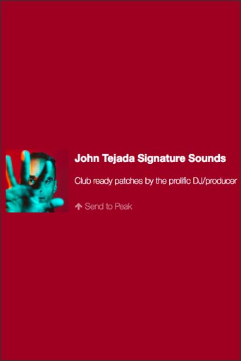 John Tejada Signature Sounds
